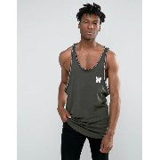 Good For Nothing Tank With Logo Taping