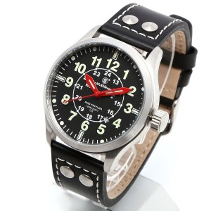 [Smith & Wesson]スミス&ウェッソン ミリタリー腕時計 MUMBAI LAMPLIGHTER WATCH BLACK/SILVER SWW-GRH-1 [正規品]