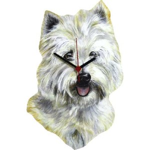 Lark Rise Designs Wooden Clock(クロック)・時計 DOG WEST HIGHLAND TERRIER WHITE TERRIER LRC11