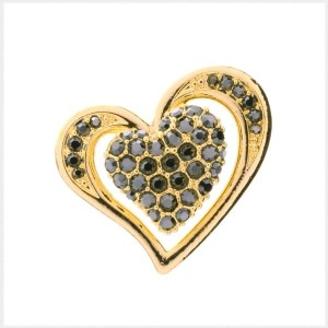 PiELY Glamorous Heart GOLD-BLACK