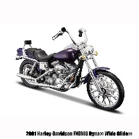 【Maisto】1/18 ハーレーダビッドソン ダイキャスト2001 FXDWG Dyna Wide Glide