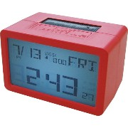 HOUSE USE PRODUCTS(ハウスユーズプロダクツ) LCD表示 置き時計 HYBRID CLOCK FRISCO RED ACL076 [正規代理店品]