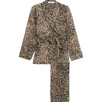 エキプモン Equipment レディース インナー パジャマ【Odette leopard-print washed-silk pajama set】