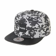 WITHMOONS 野球帽キャップ Camouflage Paris Patch Snapback Hats Faux Leather Brim FY4219 (Grey)