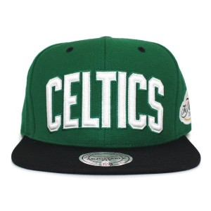 (ミッチェル&ネス)MITCHELL&NESS BOSTON CELTICS 【COMMEMORATIVE FINALS PATCH CHAMPS 2008 SNAPBACK/GRN-BLK】...