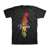 Fender Tシャツ フェンダー Flaming Stratocaster S