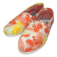 (トムス)TOMS WOMENS SEASONAL CLASSICS[PALM TREE][ORANGE PALM TREE]7.5