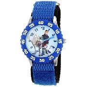 [cpa][c:0][b:6][s:3.55]ディズニー Disney Kids' W001784 Frozen Analog Display Analog Quartz Blue Watch 男の子 ボーイズ 腕時計 【並行輸入品】