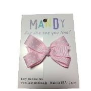 MANDY Baby Bows Light Pink with White Dot