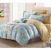 FeiLimei Bedding&Clothes 布団カバー 綿 花柄 4点セット BC607