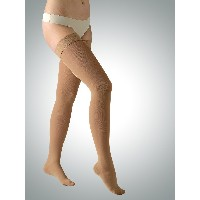 23-32 mmHg Class 2 Graduated Medical COMPRESSION STOCKINGS Closed Toe Thigh High (S, beige)