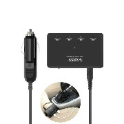 ORICO Car Charger For iPhone Android 4ポート 急速充電 USB シガーソケット 延長 コード 電源スイッチ 付 iSmart機能 12V車対応 MPU-4S