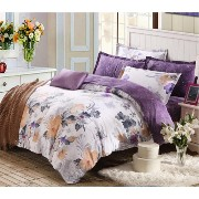 FeiLimei Bedding&Clothes 布団カバー 綿 花柄 4点セット BC608