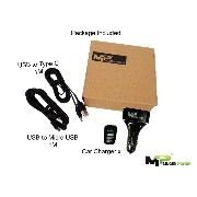 Mugen Power - Qualcomm 認定されたクイックチャージ2.0-54W 4ポートUSB12V車の充電器 + with 1M USB to Micro USB cable + 1M...