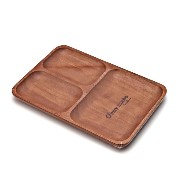 muymucho スクエアプレート Brown(ブラウン) 天然木製食器 17x25cm WOODEN PLATE SS2-01173