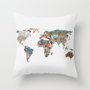 Throw Pillow Case Of Euro Style,for Play Room,bedroom,couch,sofa,girls,dance Room 18 X 18 Inches /...