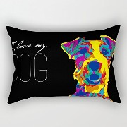 Dogs Pillowcover 12 X 20 Inches / 30 By 50 Cm For Bf,kids Girls,deck Chair,office,gf,dance Room...