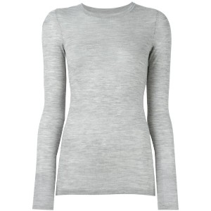 Isabel Marant - long sleeved knit top - women - メリノウール - 42