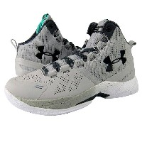"Under Armour Curry 2 ""RAINMAKER GRAY-STORM"" キッズ/レディース Aluminum/White/Stealth Grey アンダーアーマー バッシュ..."