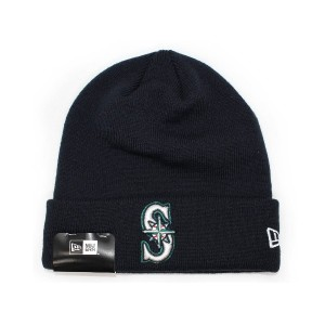 (ニューエラ) NEW ERA SEATTLE MARINERS 【BASIC CUFF KNIT BEANIE TEAM LOGO/NAVY】 シアトル マリナーズ [並行輸入品]