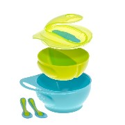 Brother Max Weaning Bowl Set (Blue/Green) by brother max?