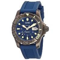 腕時計 ビクトリノックス Victorinox Swiss Army Men's 241425 Dive Master 500 Black Ice Blue Dial Watch【並行輸入品】