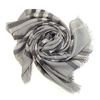 Burberry バーバリー GIANT CHECK WOOL/SILK GAUZE SCARF 220X70CM マフラー グレー GAUZE GIANT CHK [並行輸入品]