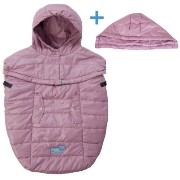 7A.M. ENFANT Pookie poncho light ベビーキャリー&ベビーカーカバー Lilac