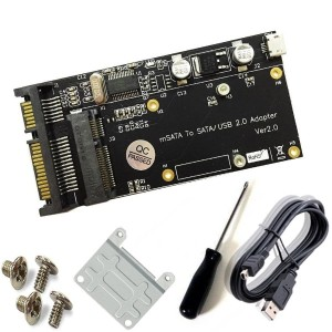powerday® Msata SSD to SATA 2.5 with USB 2.0 Adapter