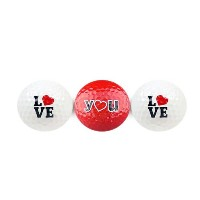Special Occasion Golf Balls スペシャルオケージョンゴルフボール3個セット [ Love You with Red Heart ]