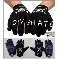 【自転車、BMX大人用グローブ】BICYCLEUNION / LOVE HATE GLOVESE / BLACK / Lサイズ
