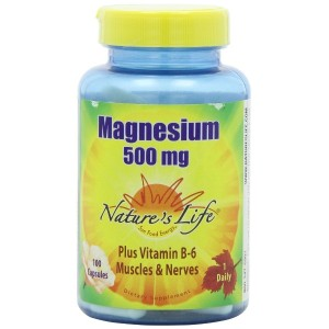 海外直送品 Nature's Life Magnesium, 100 caps 500 mg