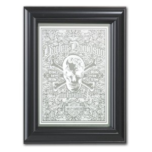 ハーレー・ダビッドソン Live-To-Ride スカルミラー (HARLEY-DAVIDSON Live-To-Ride Skull Mirror)