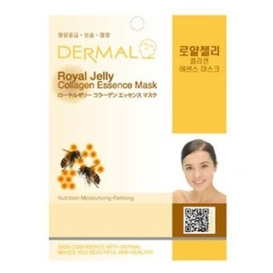Dermal Korea Collagen Essence Full Face Facial Mask Sheet - Royal Jelly (10 Pack)