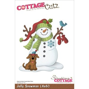 "CottageCutz Die W/Foam 4""X6""-Jolly Snowman (並行輸入品)"