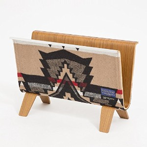【PENDLETON x MADE BY SEVEN -REUSE-】PLYWOOD MAGAZINE RACK マガジンラック (OVER ALL・BEIGE) / 20160866