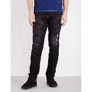 トゥルーレリジョン true religion メンズ ボトムス スキニー【rocco slim-fit skinny jeans】Black concrete lake