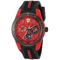 フェラーリ Ferrari Men's 0830255 REDREV T Analog Display Japanese Quartz Black Watch [並行輸入品]