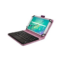 Cooper Cases (TM) Touchpad Executive Acer Iconia Tab 7 A1-713 Bluetoothキーボードフォリオ(パープル)(上質なビジネススタイル合成...