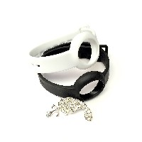BSI Set 1pc Onyx / Black and 1pc White Colors Replacement Straps for Jawbone UP Move Only /No...