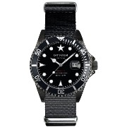 Oxygen Moby Dick Black 40 unisex quartz Watch with black Dial analogue Display and black nylon...