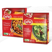 MTR Palak Paneer Curry (300g x 2) + Chana Masala Curry (300g x 2)