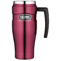 Thermos Stainless King Travel Mug, 16-Ounce 取っ手付き マグ 450ml ラズベリー