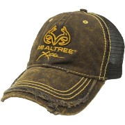 OUTLET コットン・メッシュ CAP 帽子 REALTREE 茶色