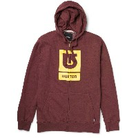 BURTON(バートン) Logo Vertical フルジップパーカーHeather Crimson(US:S)