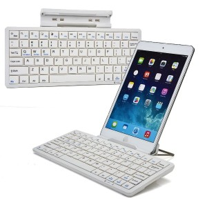 Cooper Cases(TM) K2000 Sony Xperia Z2 Tablet / LTE / Wifiユニバーサル Bluetooth キーボードドック (ホワイト)(英語 QWERTY...