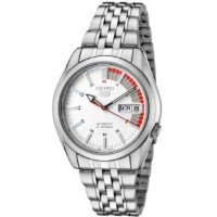 Seiko Men's 5 Automatic SNK369K Silver Stainless-Steel Automatic Watch with White Dial【並行輸入】