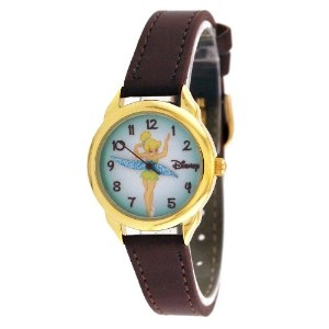 Disney[ディズニー] MODEL NO.tnk453a Women's Brown Leather Strap Tinkerbell Watch ティンカーベル レディース ウオッチ...