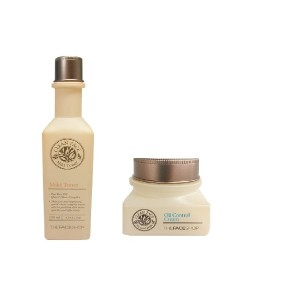 THE FACE SHOP ザ・フェースショップ クリーン・フェース 2類セット (Clean Face Toner 130ml + Oil Control Cream 50ml) 海外直送品
