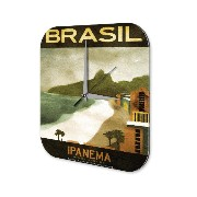 壁時計 wall clock World Trip Brazil Ipanema Decorative Plexiglass